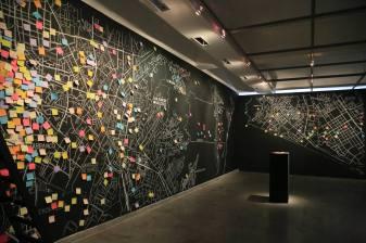 """Un gran mapa de Lima para escribir en él por """"Capital Intervención"""", primera muestra individual de Eliana Otta"""