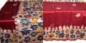Batik work on Chanderi Silk