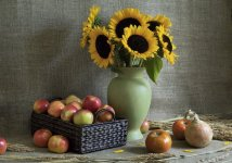 Apples and Sunflowers