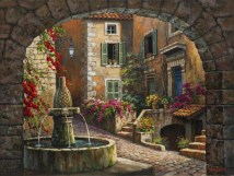 Fountain de Village (Giclee)