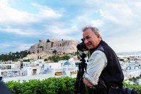 Shooting the Acropolis from the hotel rooftop garden