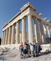 Art Treks group at the Acropolis