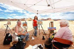 Final paintings from Ghost Ranch
