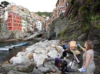 Painting in Riomaggiore