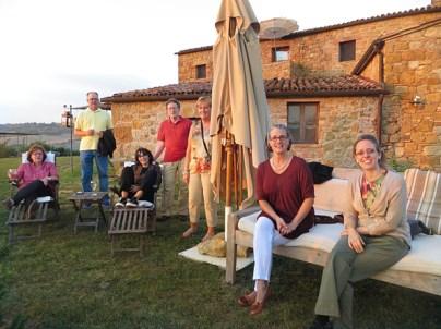 Group shot at villa