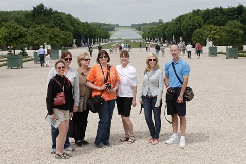 The group at the Palace of Versaille