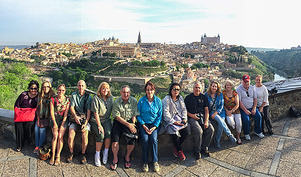 Group shot from the overlook in Toledo