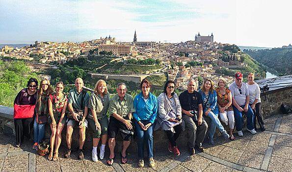 Group shot from the overlook in Toledo