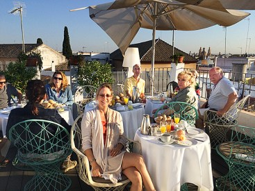 Breakfast on the rooftop in Seville