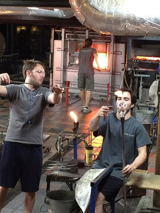 Glass blowing demonstration
