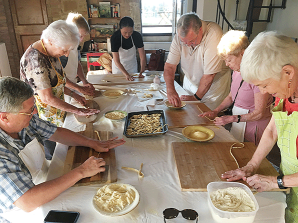 All hands on deck for the cooking class
