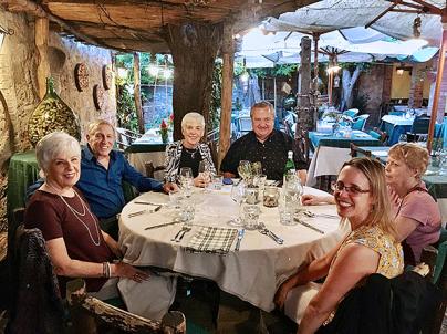 Enjoying a Tuscan meal