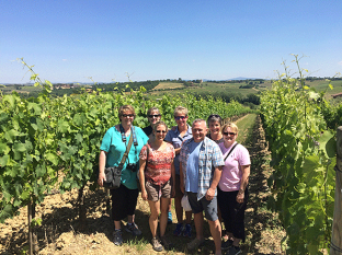 Touring the winery