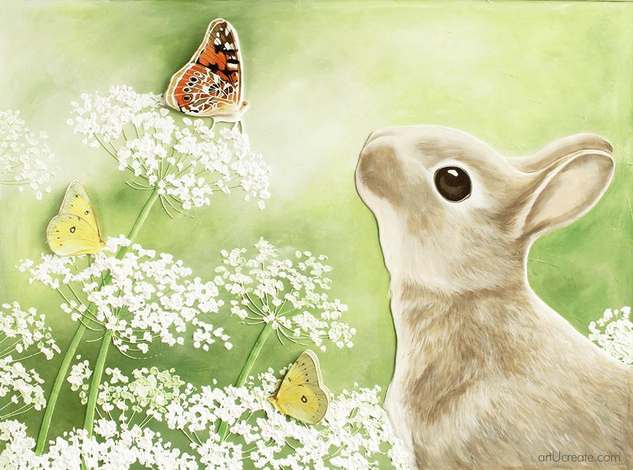 3d Bunny And Butterfly Wall Art Tutorial Art U Create