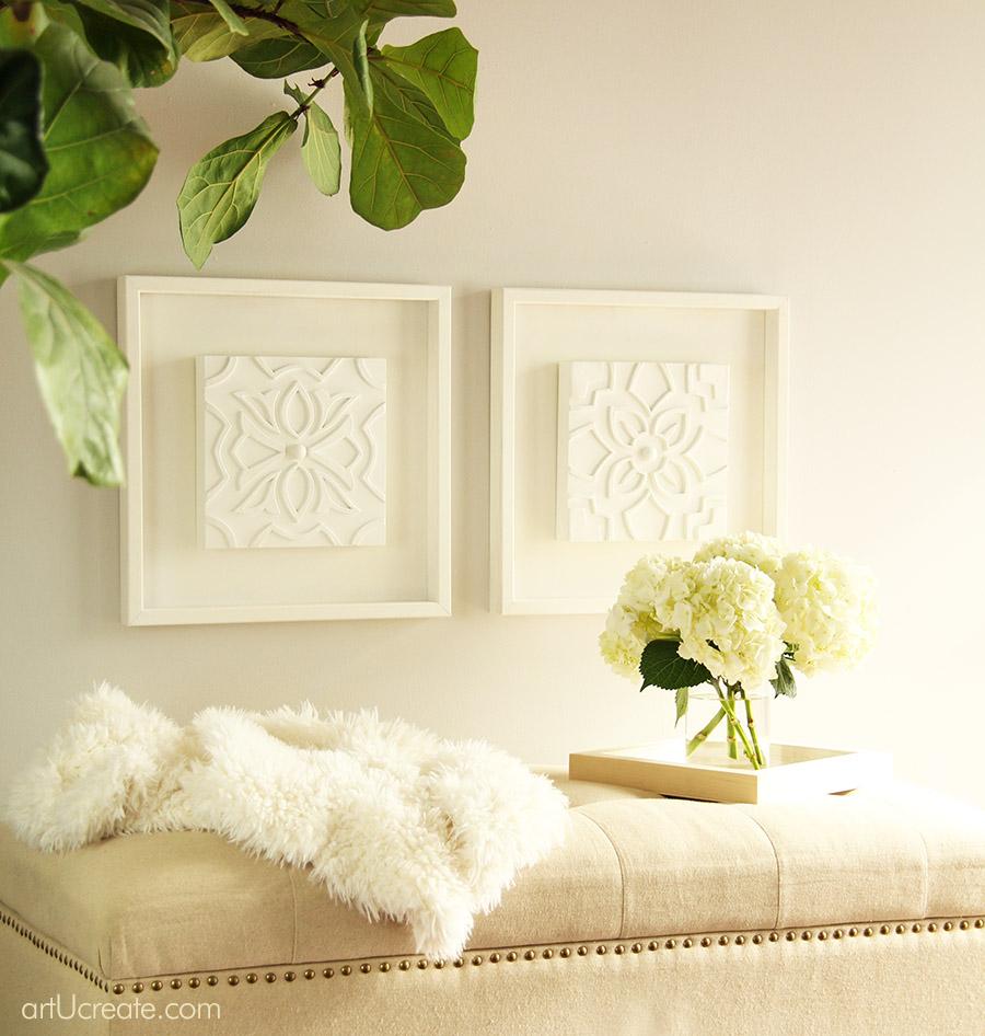 Diy White Carved Wood Wall Art Panels Art U Create