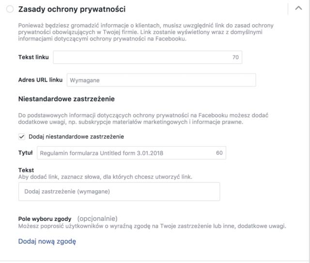 facebook ochrona prywatności jak generować leady na facebooku? Jak generować leady na Facebooku? ochrona prywatnosci facebook 1024x869