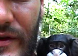 Arturo and monkey Sophia