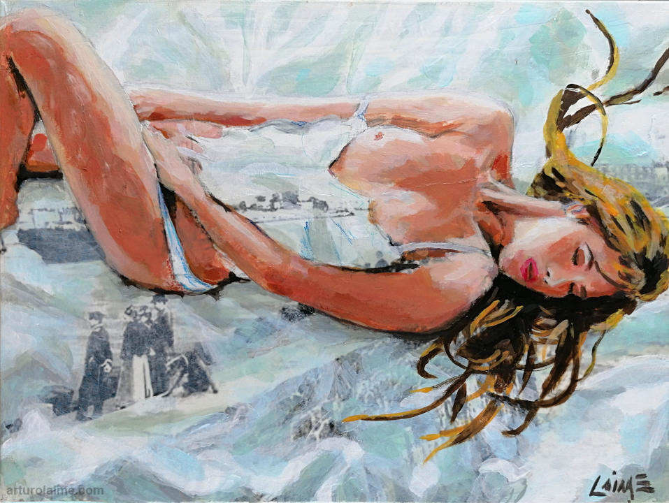dreaming woman painting