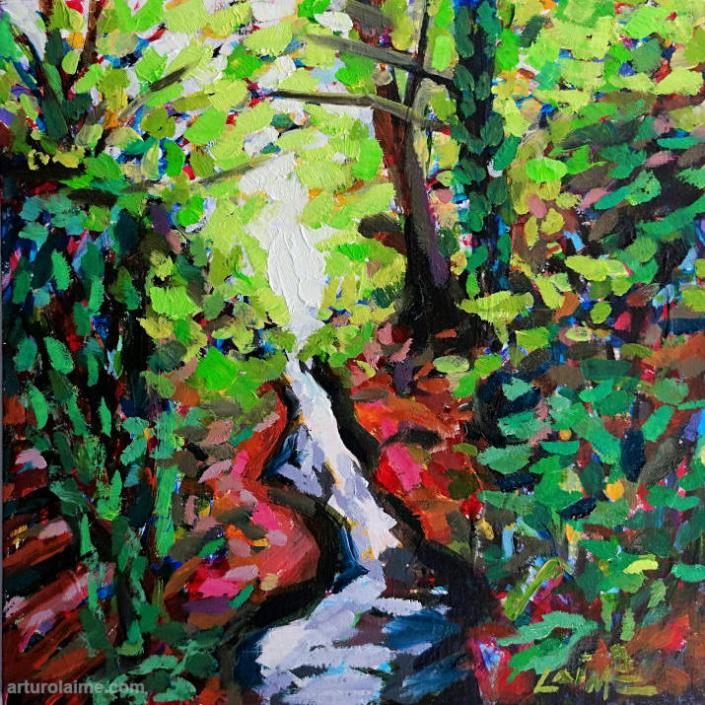 laufbach waterfalls painting