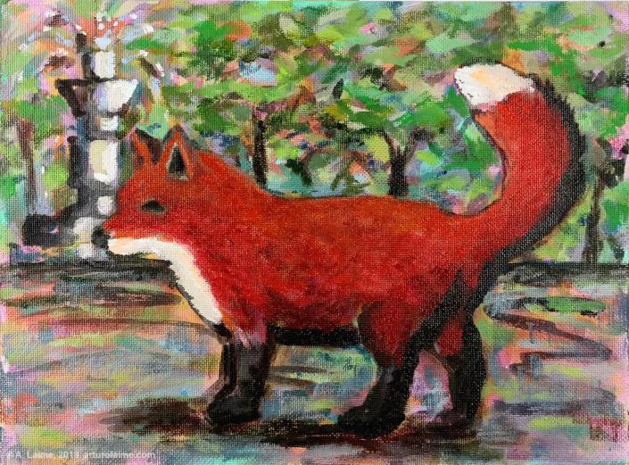 Fox & fountain