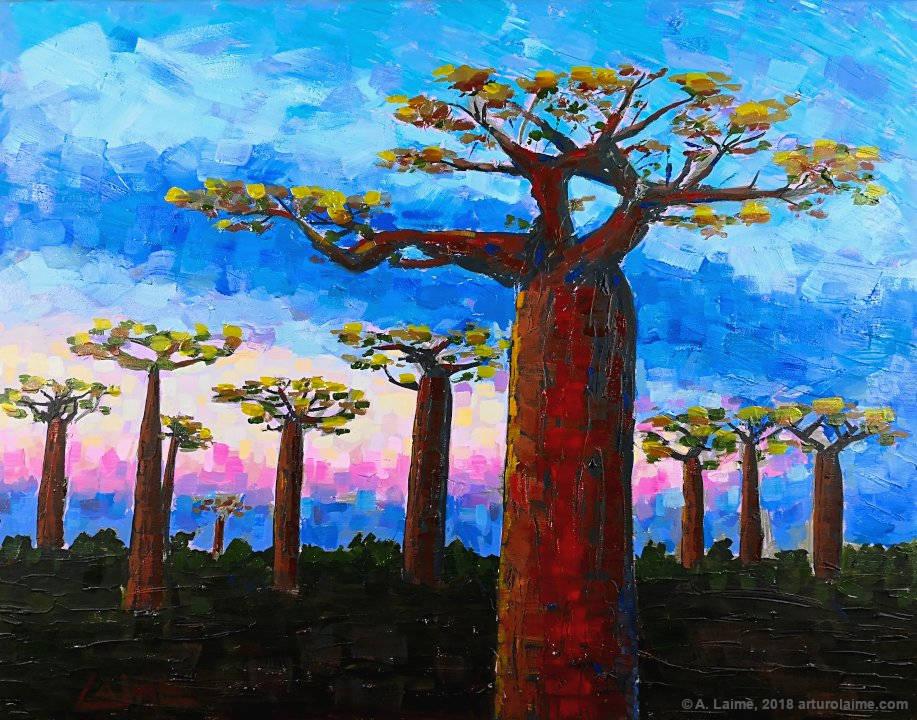 Baobabs Original-Gemälde