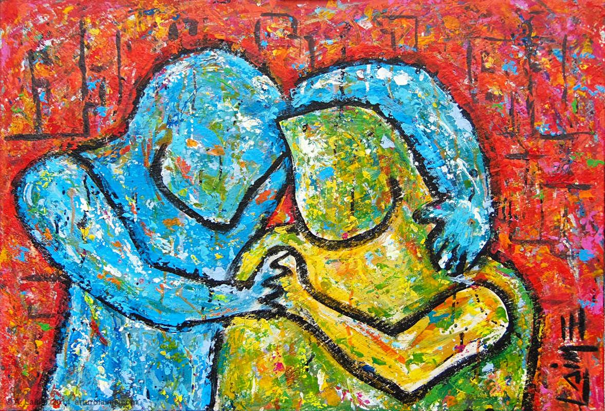 Die Umarmung Gemälde