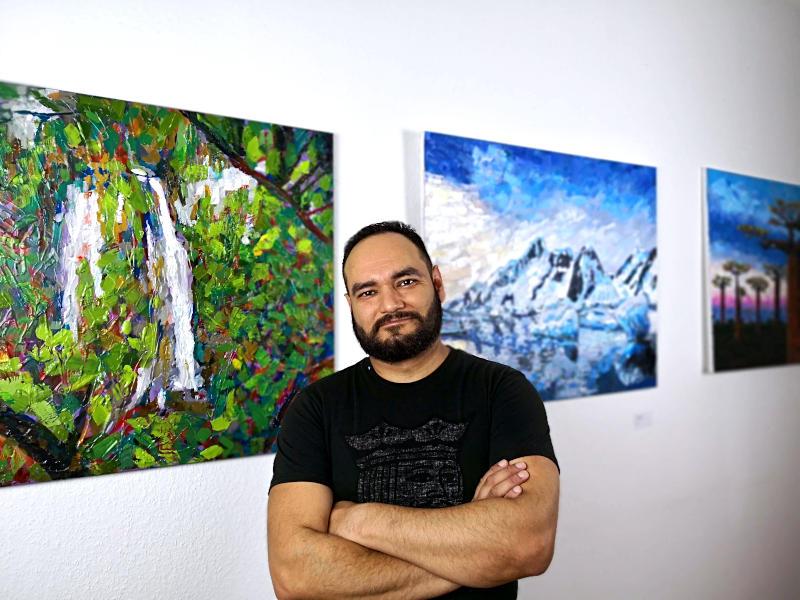 Bei einer meiner Einzelausstellungen