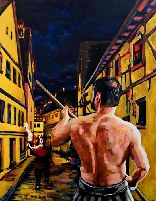 Der Brandstifter Gemälde