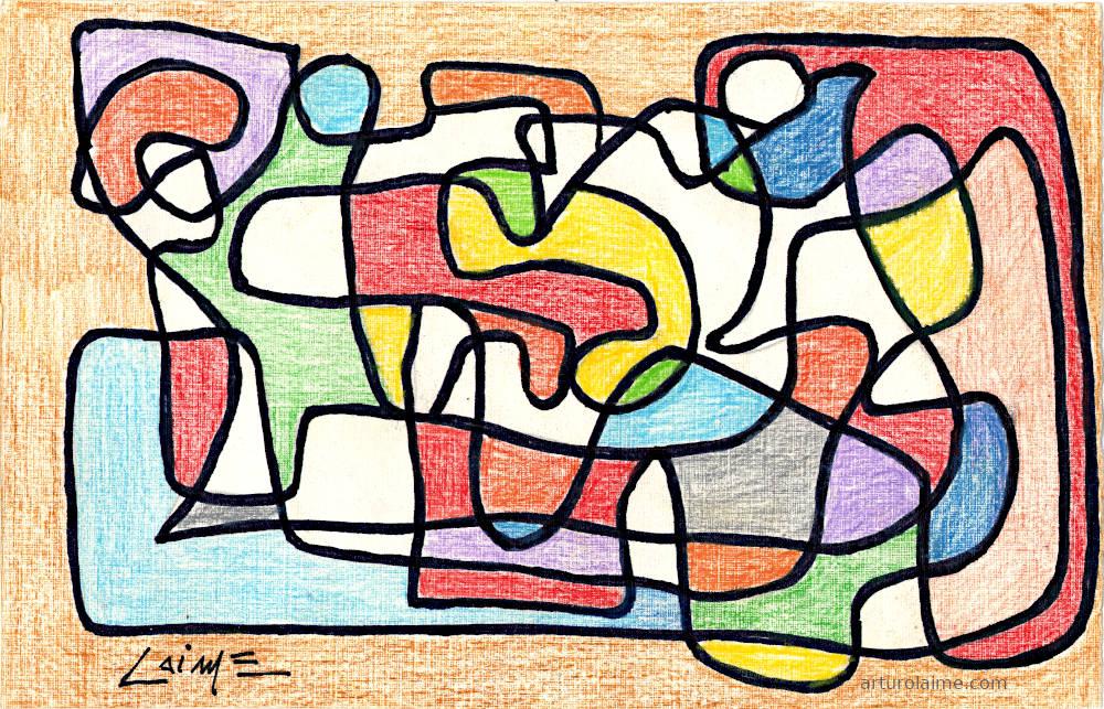 Entanglement Kunst auf Papier