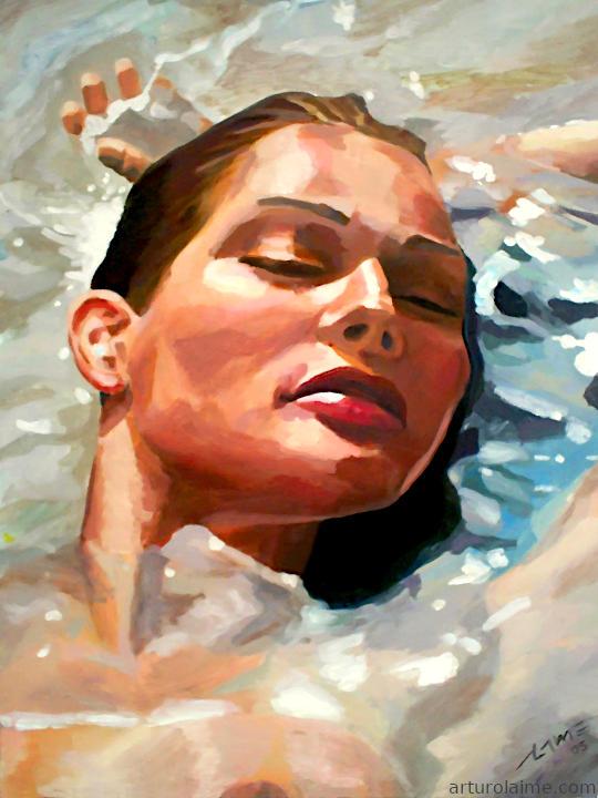 Frau im Wasser 720