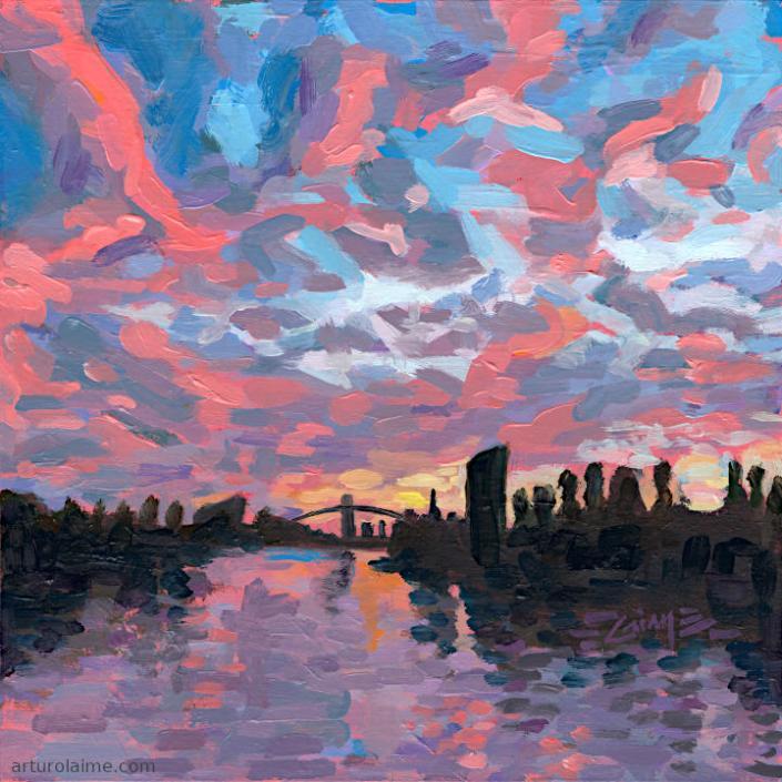 Sonnenuntergang am Main von Arturo Laime