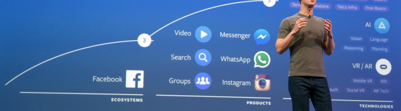 El fundador de Facebook explicando el roadmap de la empresa. Los subtítulos automáticos en video son parte del plan.