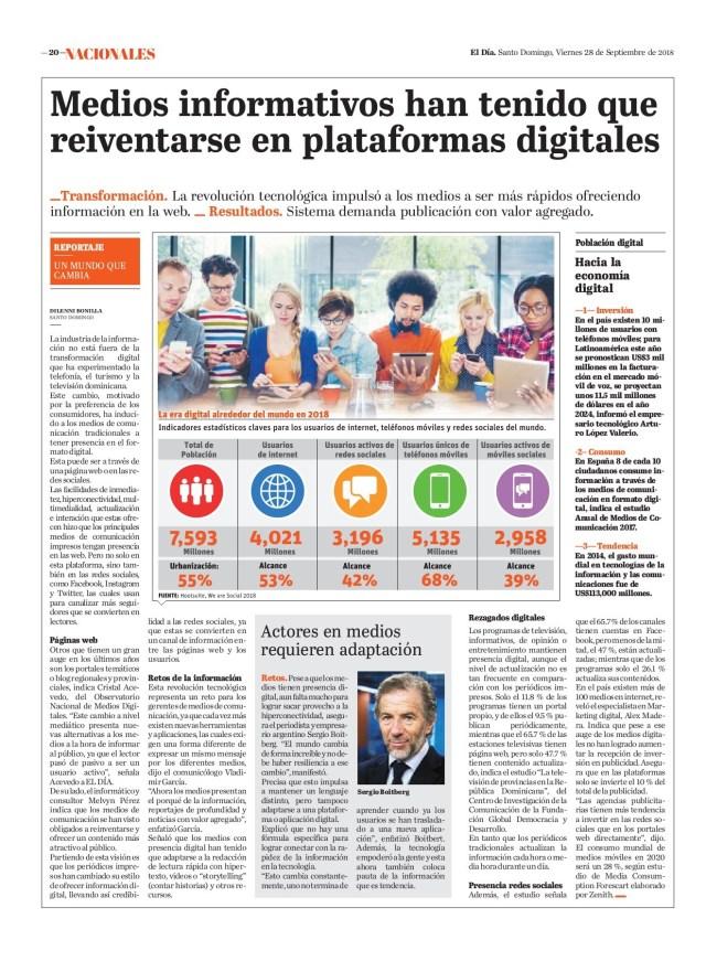 Medios informativos han tenido que reinventarse en plataformas digitales y transformación digital