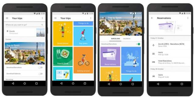 Aplicación Google Trips