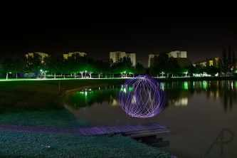 Light painting Lago curso