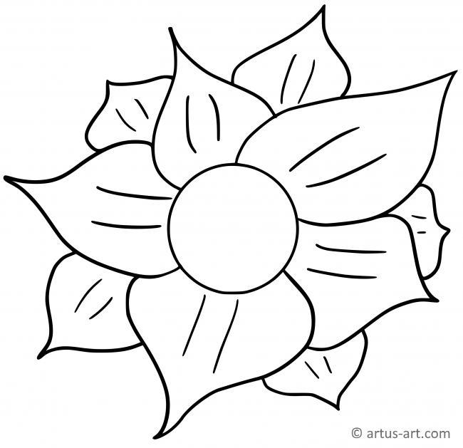Blüte Ausmalbild » Gratis Ausdrucken & Ausmalen » Artus Art