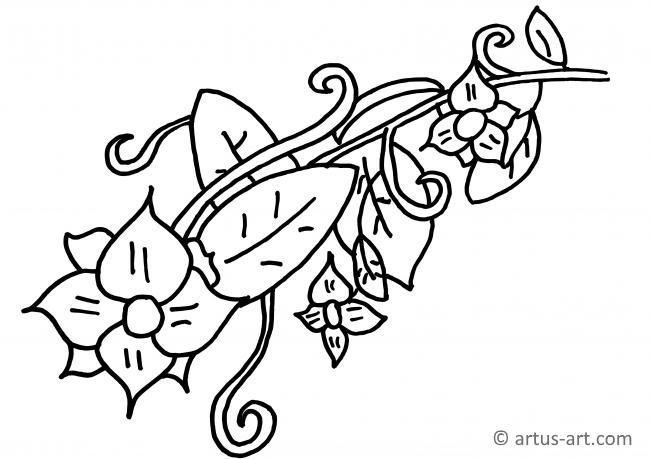Ausmalbild Blumenvase