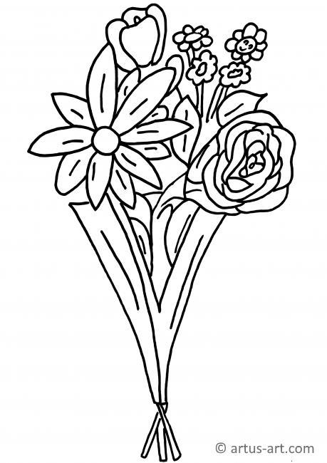 Blumenstrauß Ausmalbild » Gratis Ausdrucken & Ausmalen