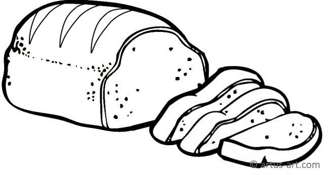 Brot Ausmalbild » Gratis Ausdrucken & Ausmalen » Artus Art