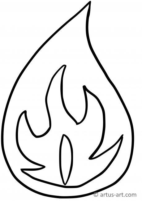 Flamme Ausmalbild » Gratis Ausdrucken & Ausmalen » Artus Art