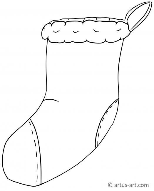 Ausmalbilder Weihnachten Nikolausstiefel