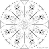 Osterhase Mandala » Gratis Ausdrucken & Ausmalen » Artus Art
