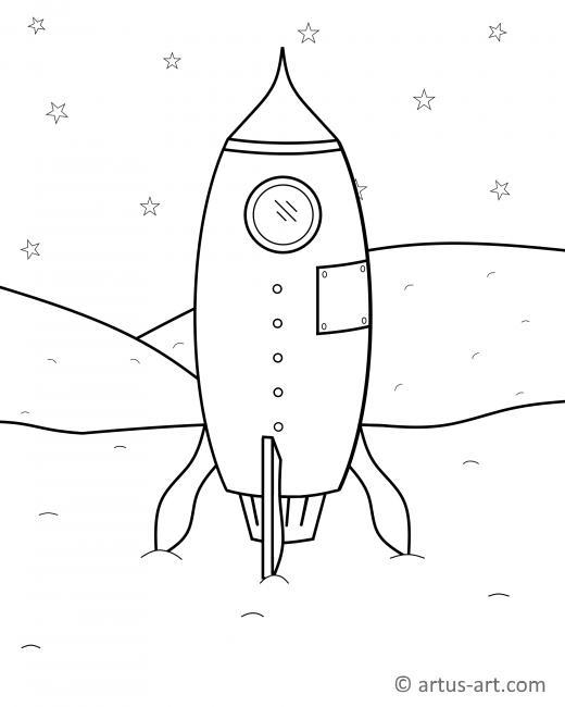 Malvorlage Rakete Kostenlos