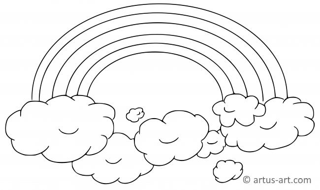 Malvorlage regenbogen mit wolke - 28 images - regenbogen