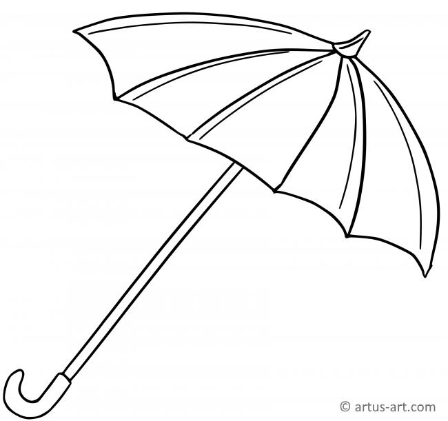 Regenschirm Ausmalbild » Gratis Ausdrucken & Ausmalen