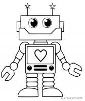 Süßer Roboter Ausmalbild » Gratis Ausdrucken & Ausmalen ...
