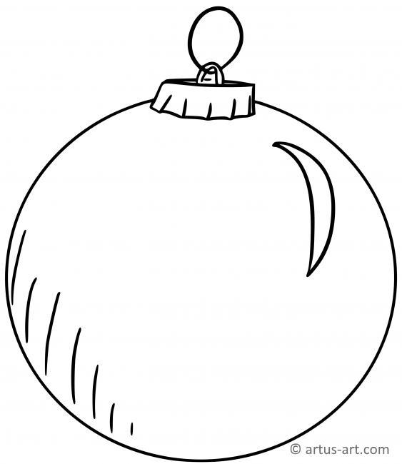 Weihnachtskugel Malvorlage