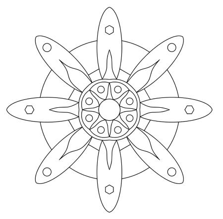 Einfache Mandalas » Leichte Malvorlagen zum Ausmalen 2020