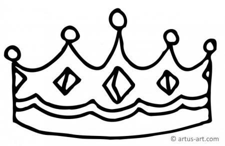 Malvorlage Krone Einfach