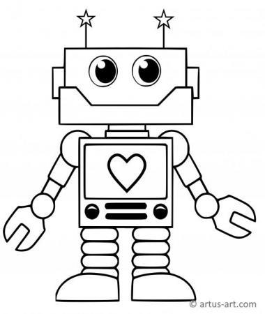 Roboter Ausmalbilder » Jetzt Malvorlagen von Robotern